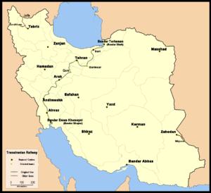 Trans-Iranian Railway - The Trans-Iranian Railway in 1938.
