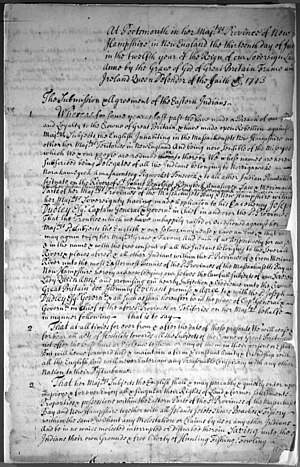 Treaty of Portsmouth (1713) - Image: Treaty of Portsmouth (1713) 1