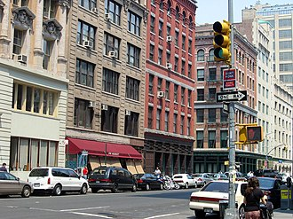 Tribeca - Hudson Street at North Moore Street in Tribeca