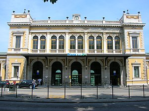 Trieste Centrale railway station - The main entrance