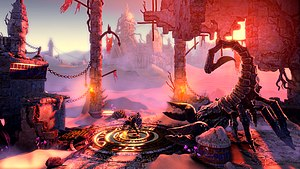 2.5D - Trine 2 features 3D graphics, yet its gameplay is restricted to a 2D plane.