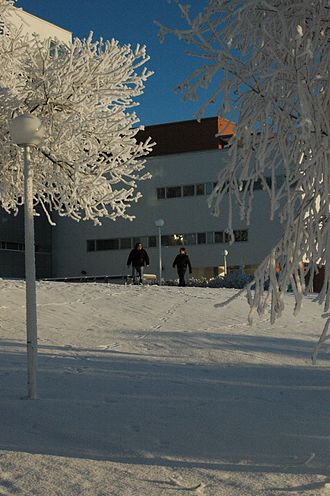 University of Vaasa - The academic library Tritonia on a sunny November day in 2010.
