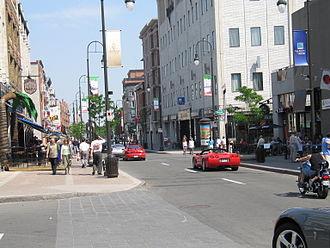 Trois-Rivières - Downtown Trois-Rivières in the early 2000s.