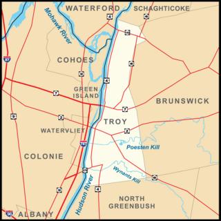 Troy, New York City in New York, United States