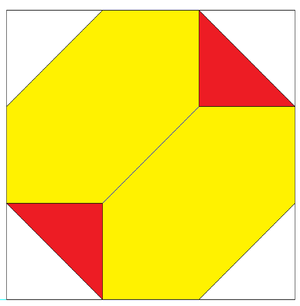 Truncated tetrahedron - Image: Truncated tetrahedron in unit cube