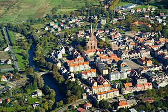 Trzebiatów - Bird's-eye view on the Old Town