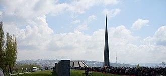 Armenian Genocide Remembrance Day - Image: Tsitsernakaberd 24.04.2009