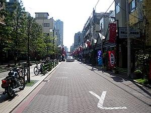 "Tsukishima - Monja Street, known as the ""Home of Monjayaki""."