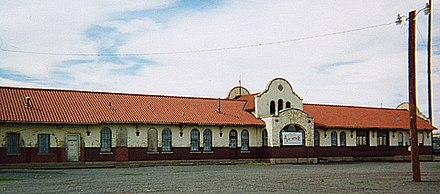 The railway station in Tucumcari Tucumcari NM Train Station.jpg