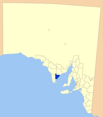 District Council of Tumby Bay - Location of Tumby Bay District Council in blue