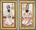 Two portraits of Nader Shah and Karim Khan Zand, Qajar Iran, 19th century.jpg
