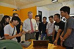 U.S. Ambassador Ted Osius visits the Maker Innovation Space located in University of Danang (36323610624).jpg