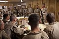 U.S. Marine Corps Sgt. Maj. Paul A. Berry, top right, the Regional Command (RC) Southwest sergeant major, speaks with Marines assigned to the 3rd Battalion, 4th Marine Regiment as Maj. Gen. Walter L. Miller Jr 130608-M-LZ389-020.jpg