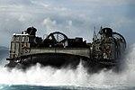U.S. Navy Landing Craft, Air Cushion 57 transports Marine Corps equipment from the amphibious dock landing ship USS Harpers Ferry (LSD 49).jpg