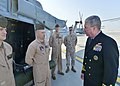U.S. Navy Vice Adm. John W. Miller, right, the commander of U.S. Naval Forces Central Command, U.S. 5th Fleet and Combined Maritime Forces, speaks to Marines during the Bahrain International Air Show at Sakhir 140116-N-VY489-105.jpg
