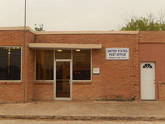 Quemado, Texas - U.S. Post Office on U.S. Route 277 in Quemado, Texas