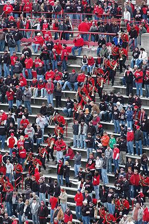 University of Cincinnati Bearcat Bands - The UC Bearcat Band charges down Nippert Stadium's steps.