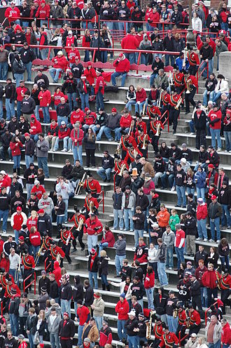 Cincinnati Bearcats - The UC Bearcat Band charges down Nippert Stadium's steps.
