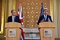 UK Secretary Hammond Listens to Secretary Kerry Address Reporters in London (27908365836).jpg