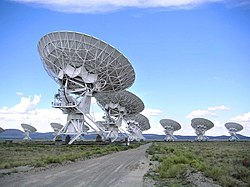 The Very Large Array, an interferometric array formed from many smaller telescopes, like many larger radio telescopes.