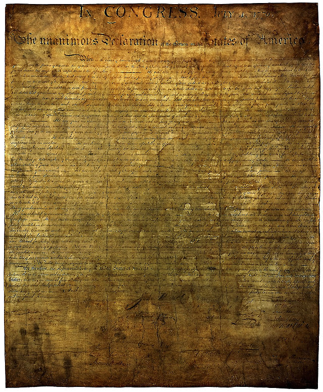USA declaration independence enhanced