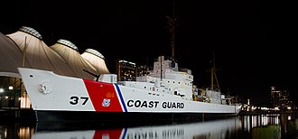 USCGC Taney (WHEC-37) - Image: USCGC Taney at night