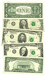 A US Currency Federal Reserve