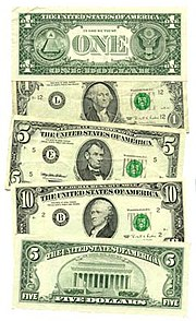 La unidad monetaria de Estados Unidos es el dólar. (Este imagen no es actual.)