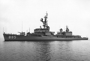 USS John R. Craig (DD-885) at sea, in 1963
