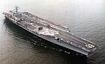 USS Nimitz (CVN-68) underway near Norfolk Naval Base on 10 July 1977.jpg