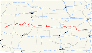 U.S. Route 160 - Image: US 160 map