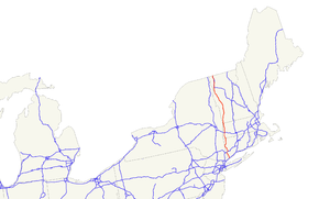 U.S. Route 7 - Image: US 7 map