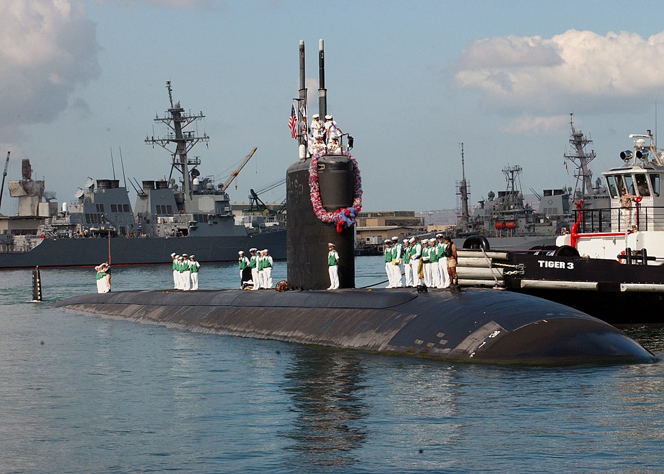 US Navy 031031-N-5376G-006 The USS Pasadena (SSN 752) returns to her homeport of Pearl Harbor, Hawaii, following an eight-month deployment to the Western Pacific