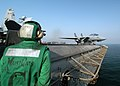 US Navy 041109-N-8704K-004 An F-14B Tomcat launches from the flight deck of the conventionally powered aircraft carrier USS John F. Kennedy (CV 67).jpg
