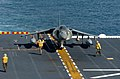 US Navy 051111-N-1467K-004 An AV-8B Harrier, assigned to the Black Sheep of Marine Attack Squadron Two One Four (VMA-214), prepares to launch.jpg