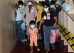 http://upload.wikimedia.org/wikipedia/commons/thumb/6/63/US_Navy_060614-N-9076B-162_Patients_don_mask_and_began_their_walk_up_a_ramp_to_medical_treatment_facilities_the_U.S._Military_Sealift_Command_%28MSC%29_Hospital_Ship_USNS_Mercy_%28T-AH_19%29.jpg/240px-US_Navy_060614-N-9076B-162_Patients_don_mask_and_began_their_walk_up_a_ramp_to_medical_treatment_facilities_the_U.S._Military_Sealift_Command_%28MSC%29_Hospital_Ship_USNS_Mercy_%28T-AH_19%29.jpg
