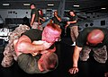 US Navy 080915-N-2183K-034 Marines of the embarked 15th Marine Expeditionary Unit practice hand-to-hand combat.jpg