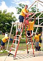 US Navy 100610-N-4971L-050 Sailors help refurbish a basketball goal during a community service project in Corinto, Nicaragua.jpg