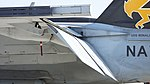 US Navy FA-18E Super Hornet (NF300 166859) of VFA-115 CAG bird left wing Aileron static display at NCAS Iwakuni Base May 5, 2016.jpg