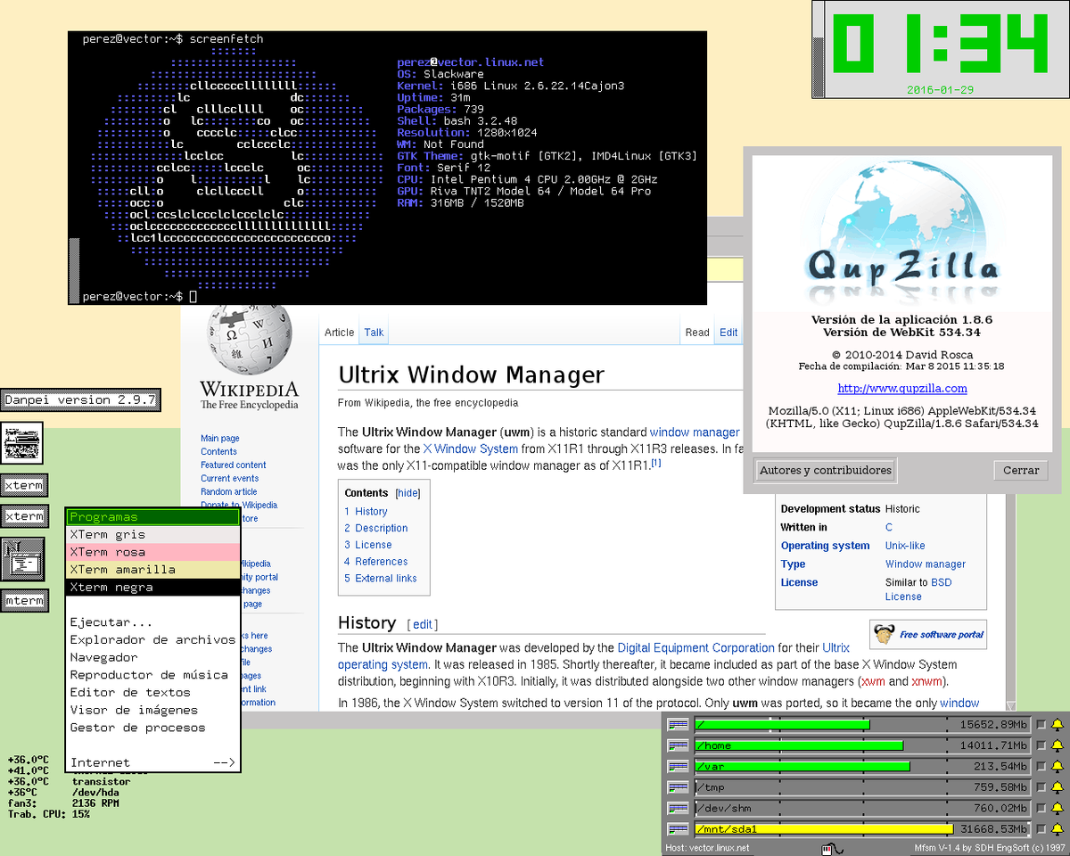 X window manager freebsd desktop