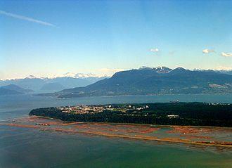 University Endowment Lands - An aerial view of the University Endowment Lands, including UBC and Pacific Spirit Park.