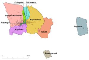 Ulan Bator subdivisions