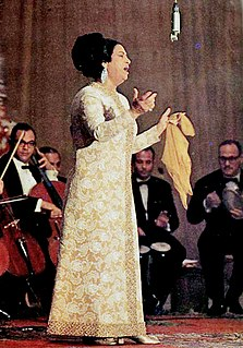 Umm Kulthum Egyptian singer, songwriter, and film actress