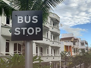 Road signs in Mauritius