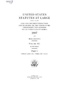 United States Statutes at Large Volume 121.djvu