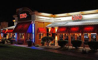 Uno Pizzeria & Grill - Uno Restaurant, Revere, Massachusetts in 2012 - night view