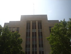 Upper portion of the Rapides Parish Courthouse in Alexandria