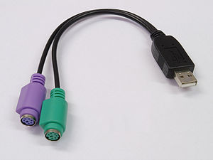 PS/2 port - Bus powered PS/2-to-USB adapter