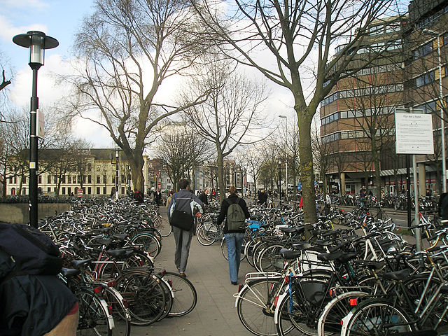 There are approximately 1 million more bicycles than people in the Netherlands. Photo by Bèrto 'd Sèra, taken in Utrecht.