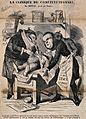 Véron and de Cassagnac dissect Adolphe Thiers; symbolising t Wellcome V0011790.jpg